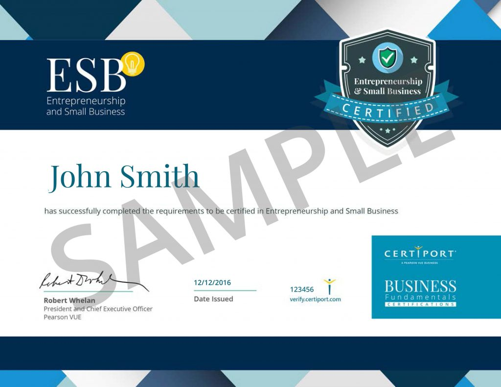 Entrepreneurship and small business certification certiport entrepreneurship and small business previous next d aa d d a d b d a d d a d d a d b d d a d d ac 1betcityfo Images
